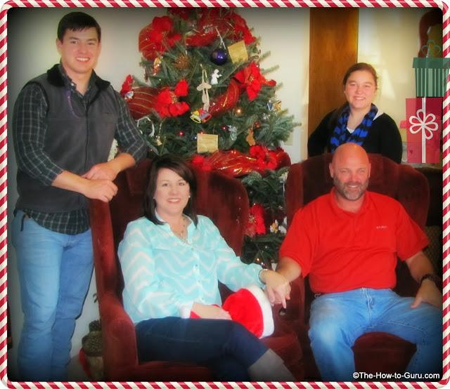 how to guru family christmas photo