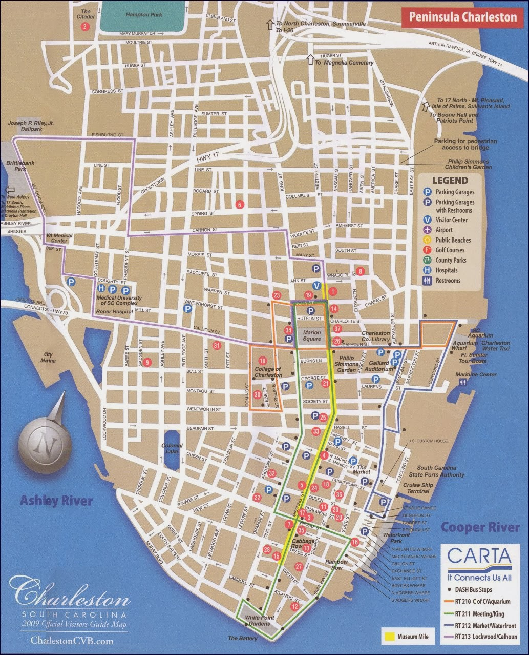 view of Charleston map
