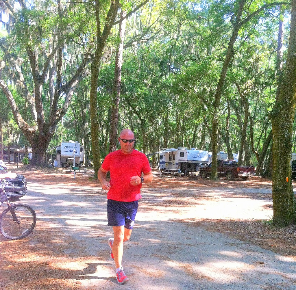 Jekyll Island Campground morning workout