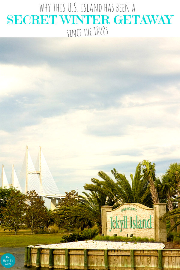 view of Jekyll Island Georgia entrance and Sidney Lanier Bridge