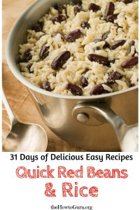 Quick Red Beans and Rice