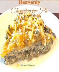 Low Carb Cheeseburger Pie (31 Days of Delicious Easy Recipes Day 19 )