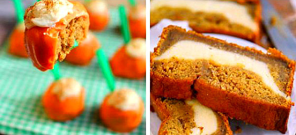 Two pumpkin desserts pictured - pumpkin muffins recipe
