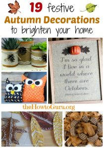 DIY Fall Decorations: 19 Unique Ideas For The Craft-Challenged (like me!)