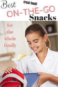 "Best Snacks List For Kids & Adults That Are ""Real Food"" & On-The-Go!"