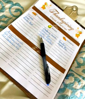 Thanksgiving Turkey Meal Planner (FREE)
