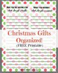 SAVE money & Make Money with Christmas Presents List (free printable to organize)