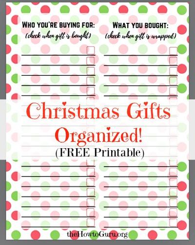 AMAZING buying Christmas Presents Hack & FREE printable!