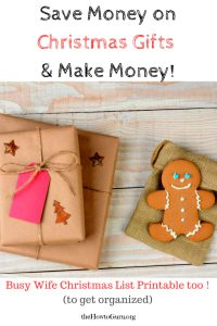 Save Money On Christmas Presents & Make Money {FREE Printable}!!!