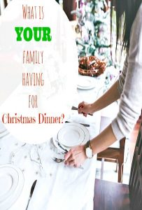 Christmas Dinner Menu Ideas! (Countdown to Old Fashioned Christmas)