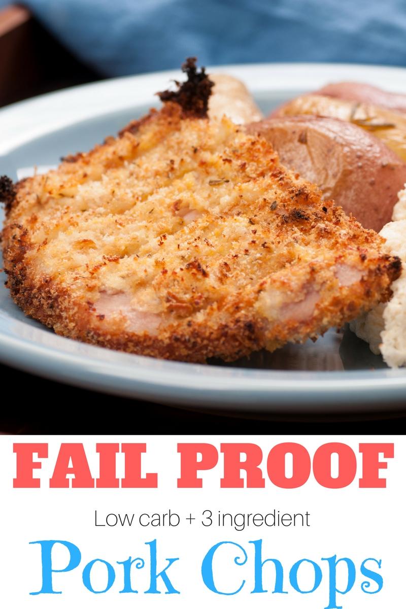 INCREDIBLY tasty 3-ingredient, Low Carb Pork Chops Recipe!
