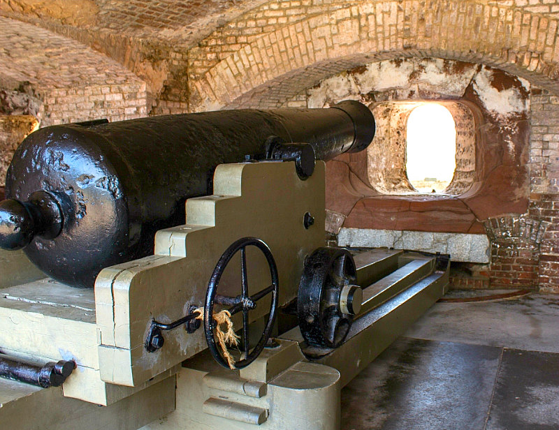 Fort Sumter in South Carolina cannon for things to do in Charleston
