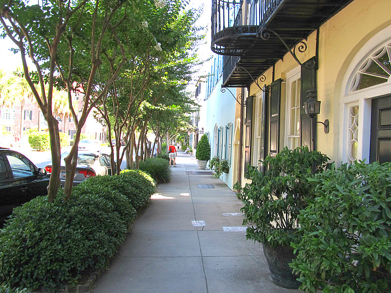 view of Rainbow Row homes as things to do in Charleston