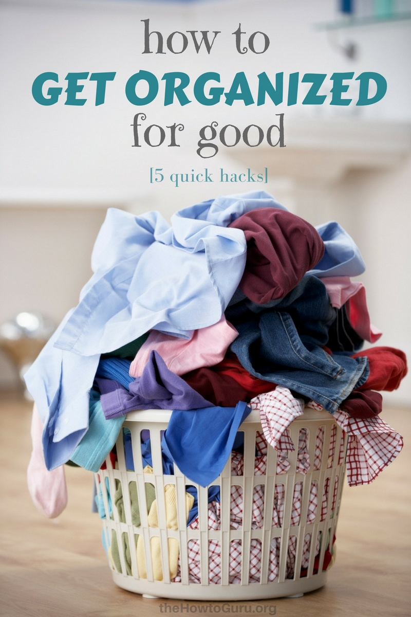 Get Organized for good - pile of laundry