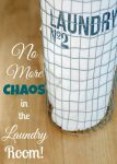 "Fun and Easy ""How-to"" tutorial of how to declutter clothes and the chaos in the laundry room. All the ladies said, ""Oh Yeah!"""