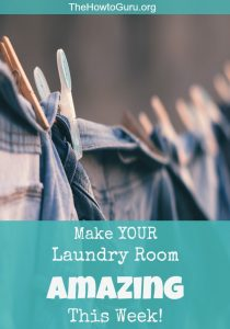 Her simple step-by-step hacks to ORGANIZED CHAOS in the laundry room is amazing and one that I am pinning so that I won't forget!