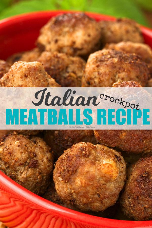 Crockpot Italian Meatballs in a bowl