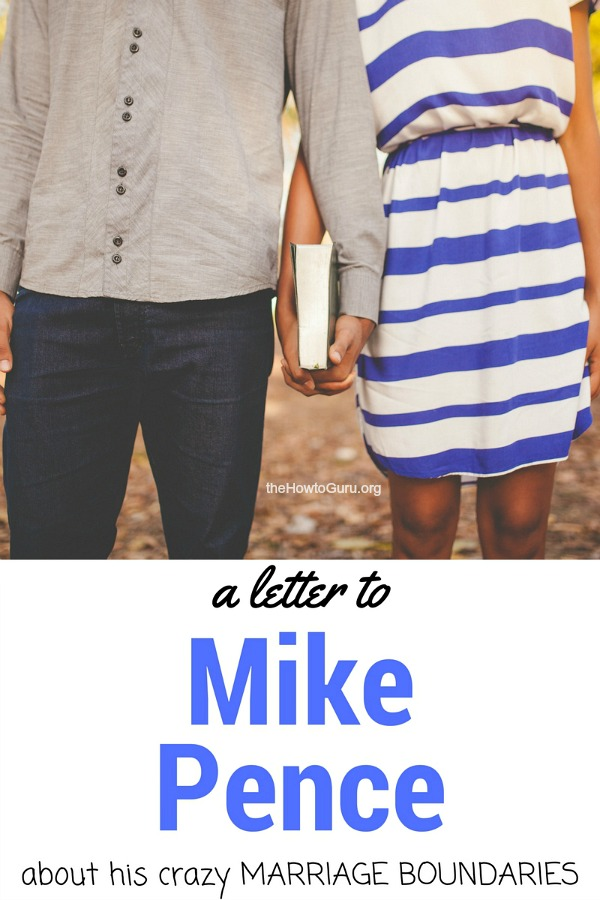Amazing article about the shocking revelation of Mike Pence's boundaries in marriage & how it affects all of our marriages!