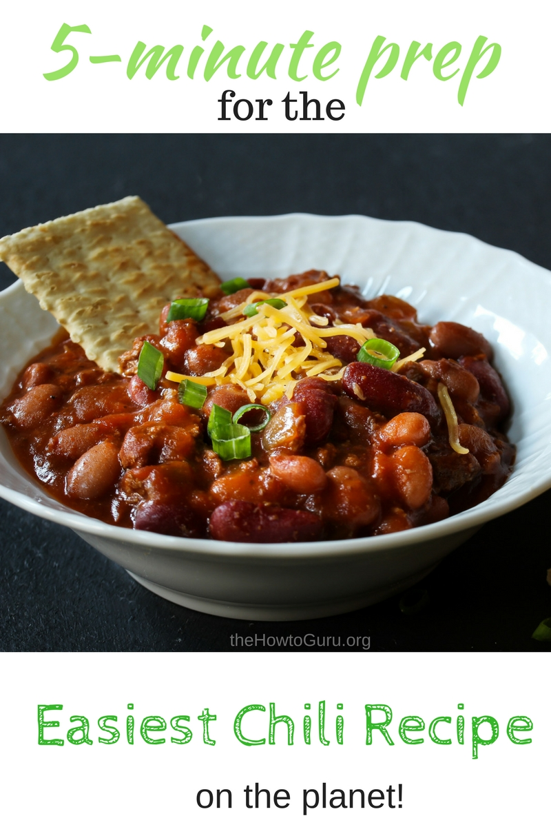 image of Homemade chili recipe easy to make