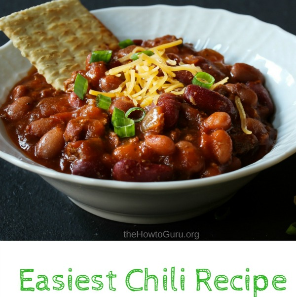 Homemade chili recipe easy to make, belly-warming goodness thrown together in five minutes, feeds a crowd, freezes well for leftovers? Yes, please!