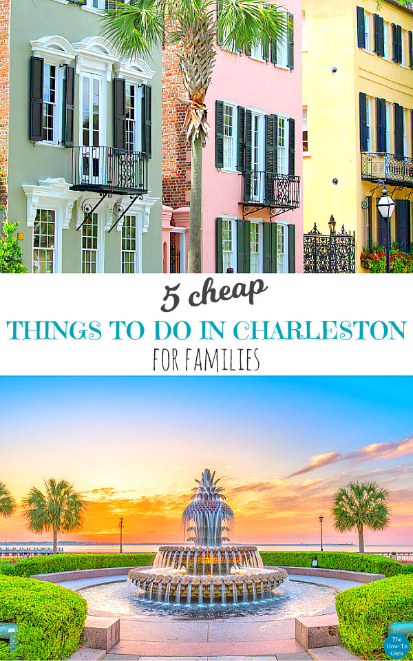 view of cheap things to do in Charleston like seeing Rainbow Rob & the waterfront park