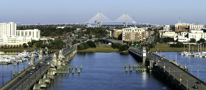 view of Charleston Marina - cheap things to do in Charleston