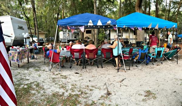 Spirit of the Suwannee Florida Campground Adventures - camp dinner