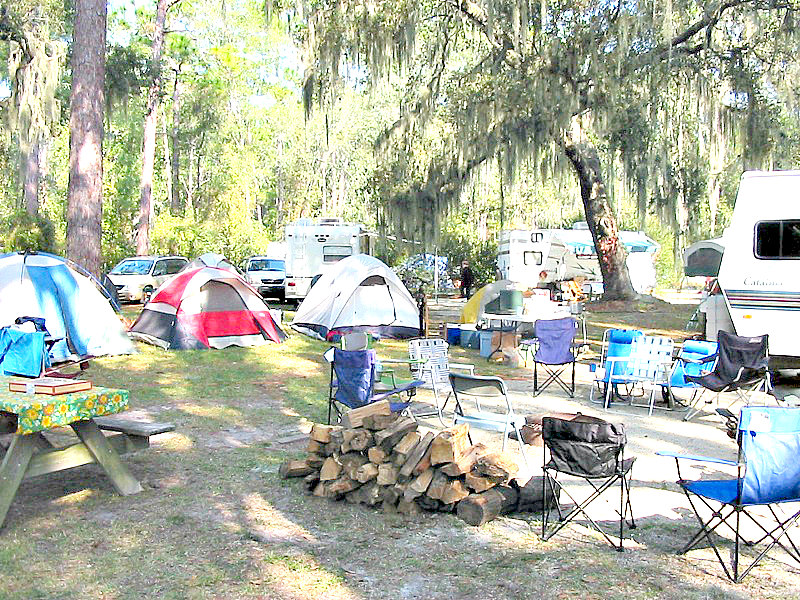 Florida campground family adventure Review - Suwannee River campsite