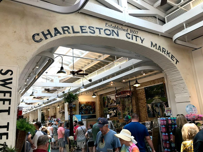 view of Charleston City Market - cheap things to do in Charleston