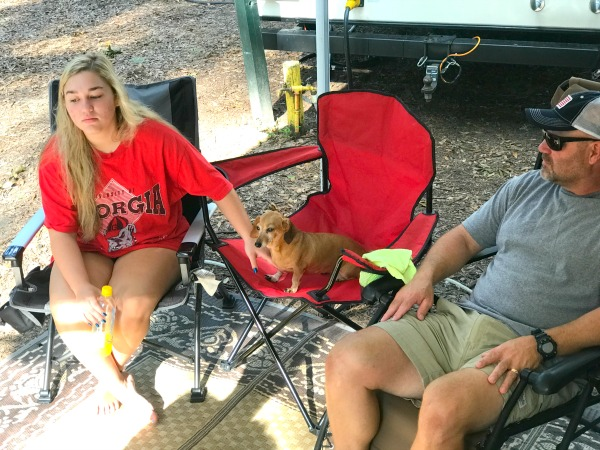 MY FAM ON RV VACATION AT JEKYLL ISLAND CAMPGROUND
