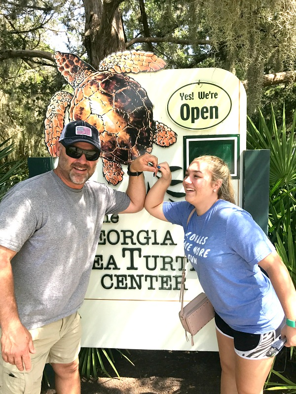 My Loves at Georgia Sea Turtle Center on RV Vacation