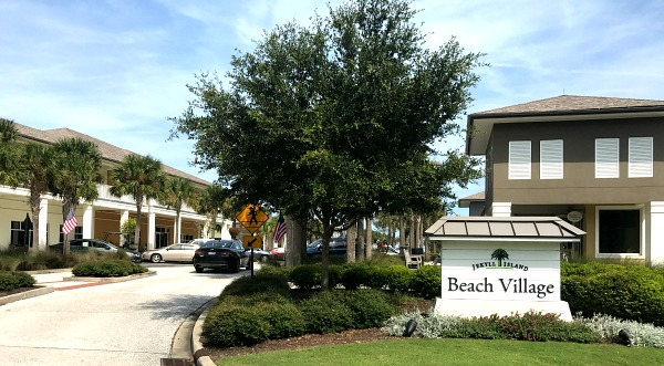 The awesome beach village on our RV Vacation!
