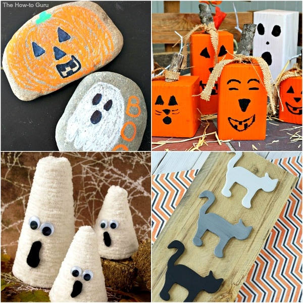 Her cute and silly DIY Halloween decorations that are SO easy and perfect to add fun to the home!
