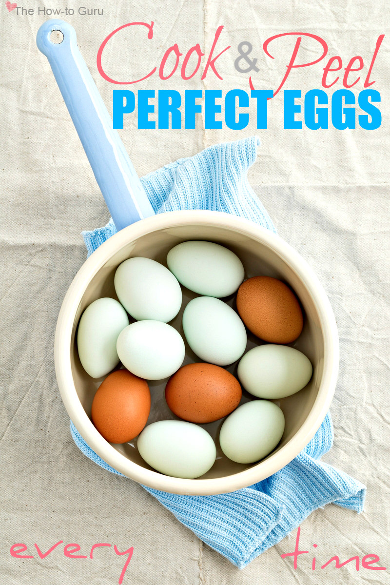 How to boil eggs & peel perfectly every single time!