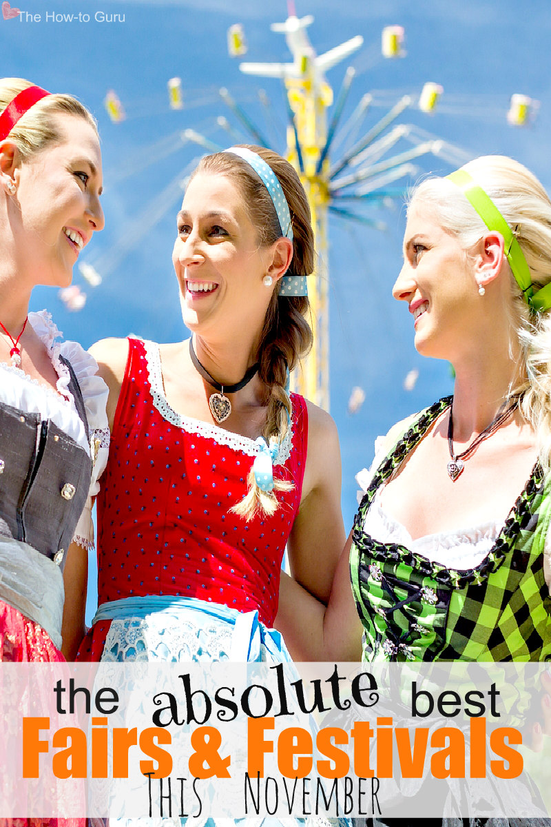 German costumed girls at the best 2018 fall festivals near me and you