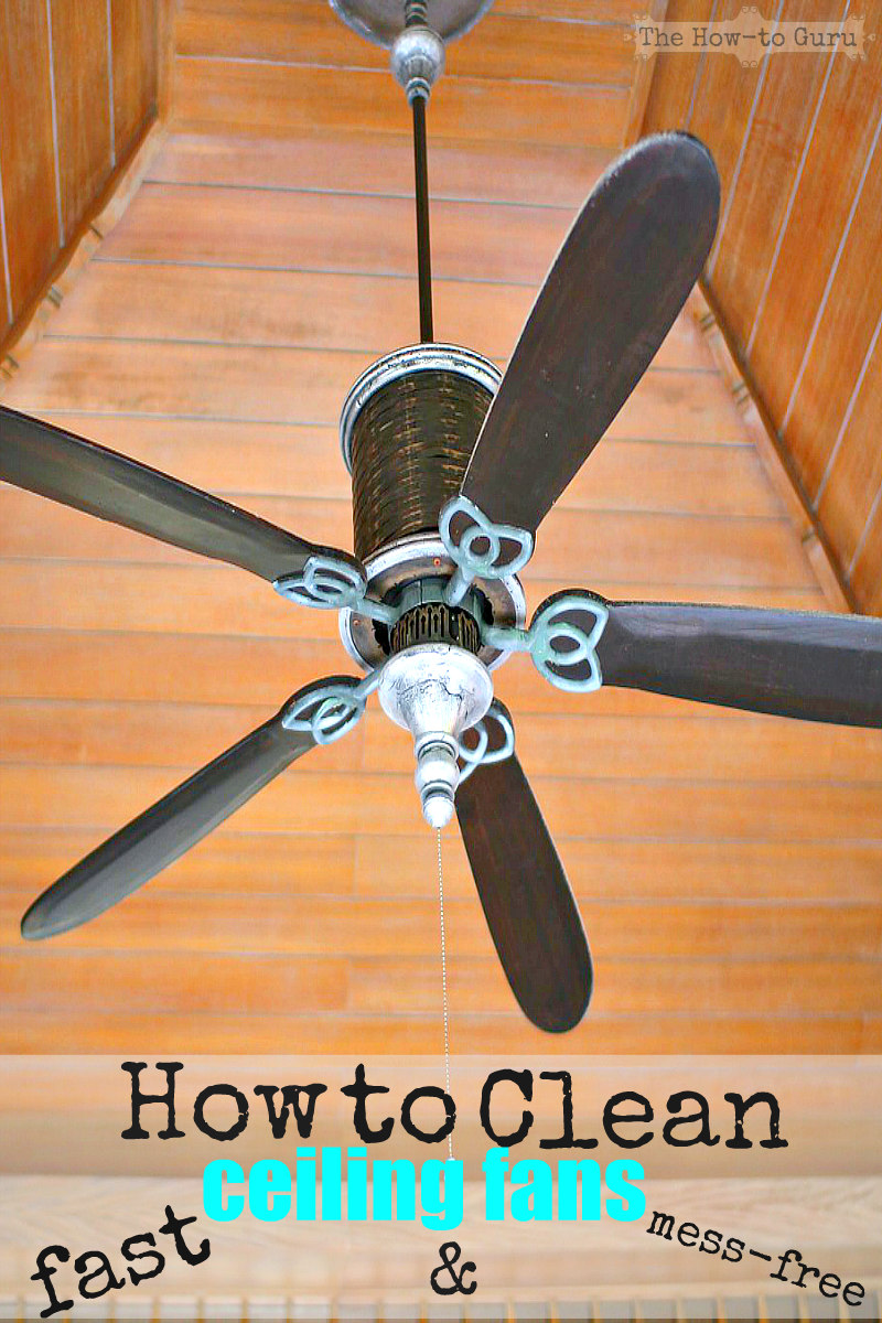 How do you clean ceiling fans in a flash without the mess watch this how do you clean ceiling fans fast mess free with these cleaning hacks mozeypictures Images