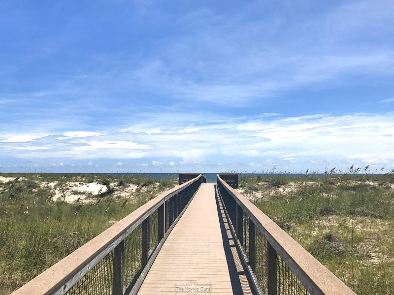 Secluded Fernandina beach Florida boardwalk
