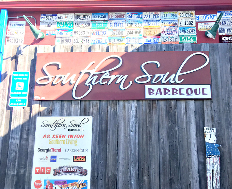 View of Southern Soul Barbeque near King and Prince Beach Resort on St. Simons Island Georgia