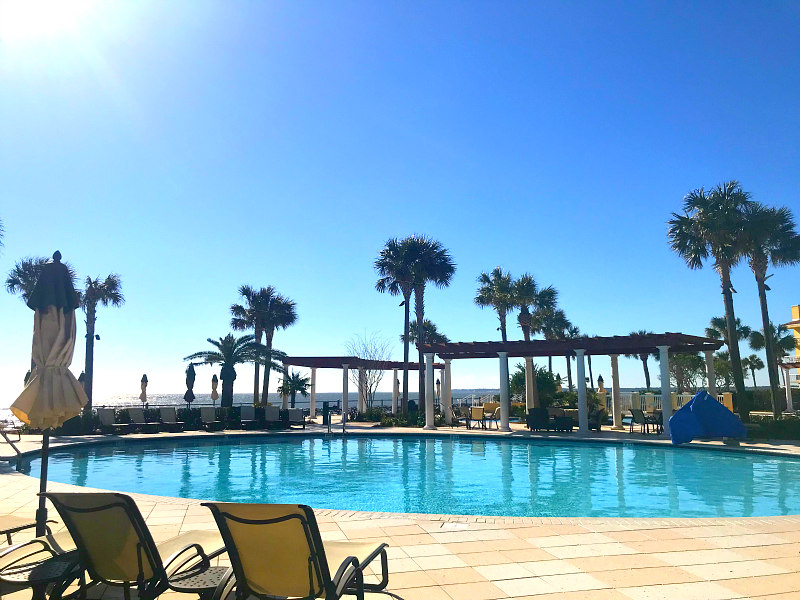 BEST things to do on St Simons Island with older kids - one of King and Prince oceanfront pools