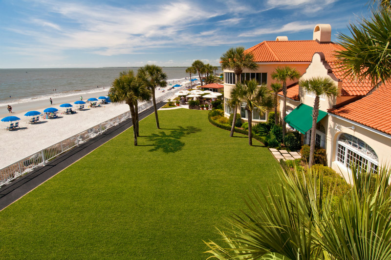 Lawn View of St. Simons Island King and Prince Beach Resort the WHOLE fam will ADORE