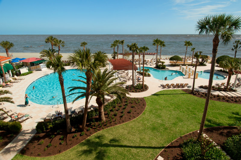 View of 3 Oceanfront pools at the King and Prince Beach Resort on St. Simons Island the WHOLE fam will ADORE!