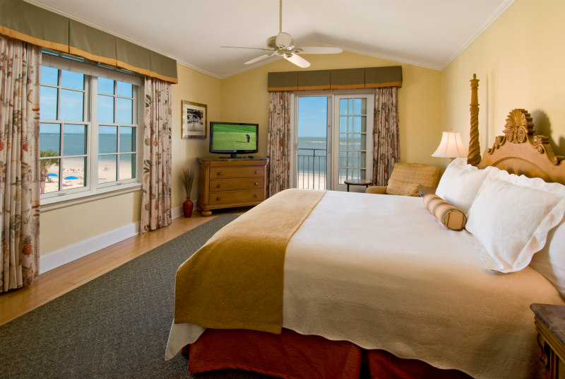 View of King and Prince Beach Resort Oceanfront Tower Room on St. Simons Island