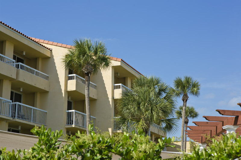 View of King and Prince Beach Resort Villa Exterior on St. Simons Island Georgia