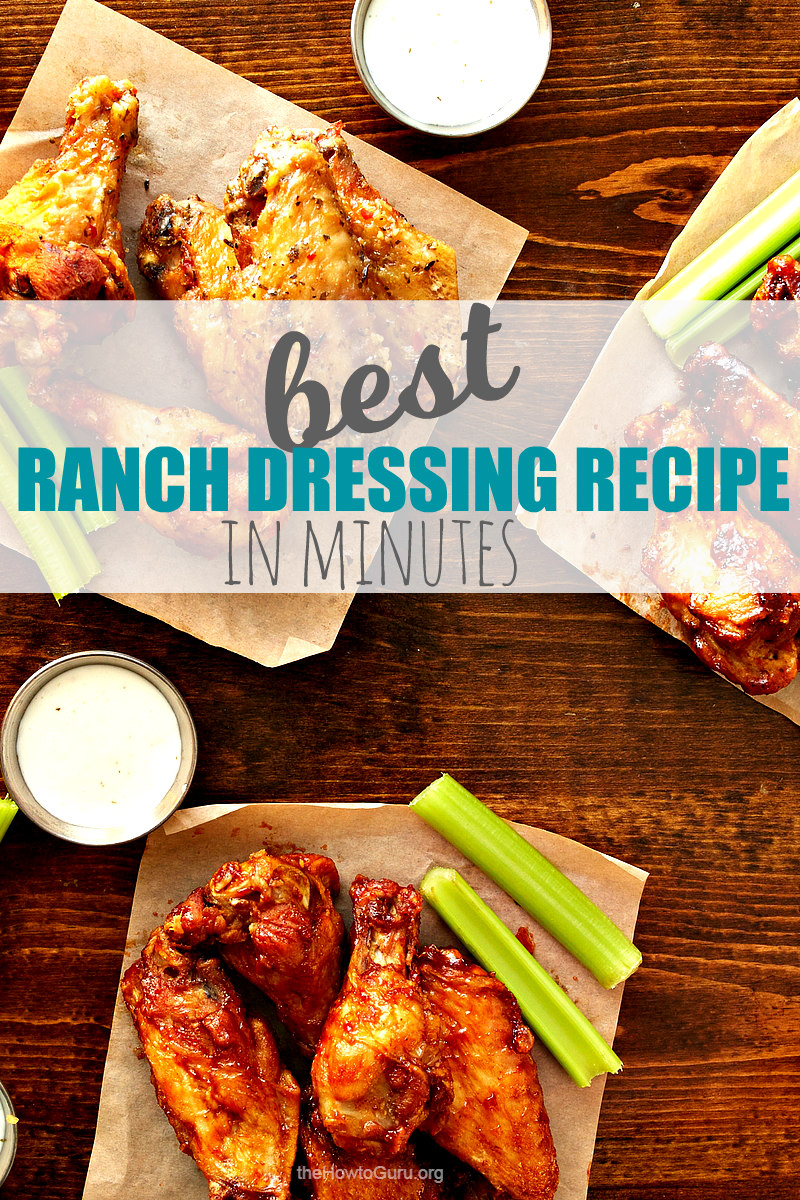 image of ranch dressing recipe and chicken wings