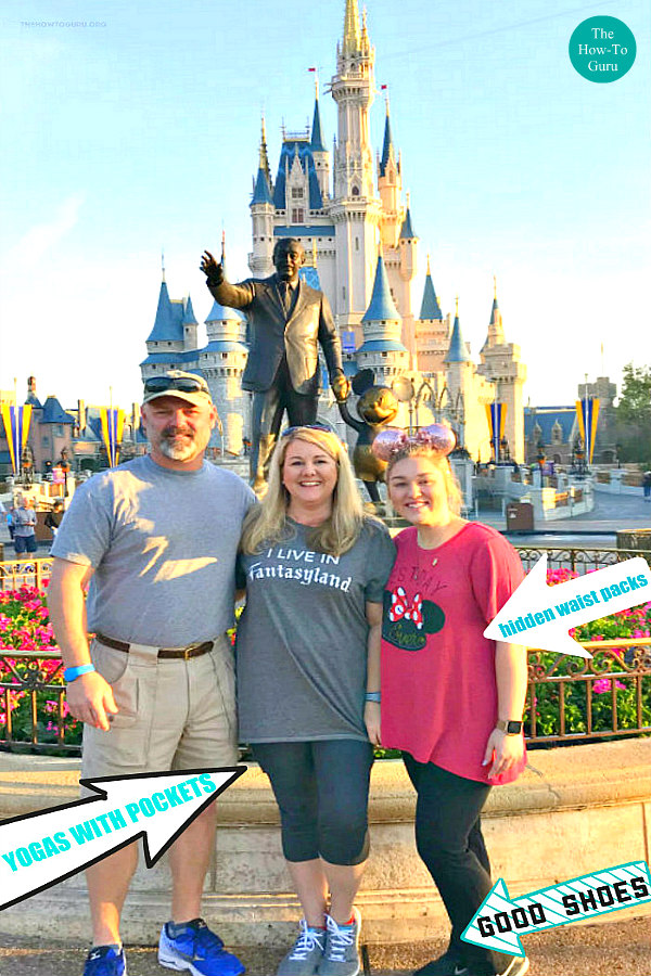 Disney Packing List Family shown at Disney World - posing in front of castle
