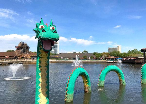 LEGO Dragon in the lagoon