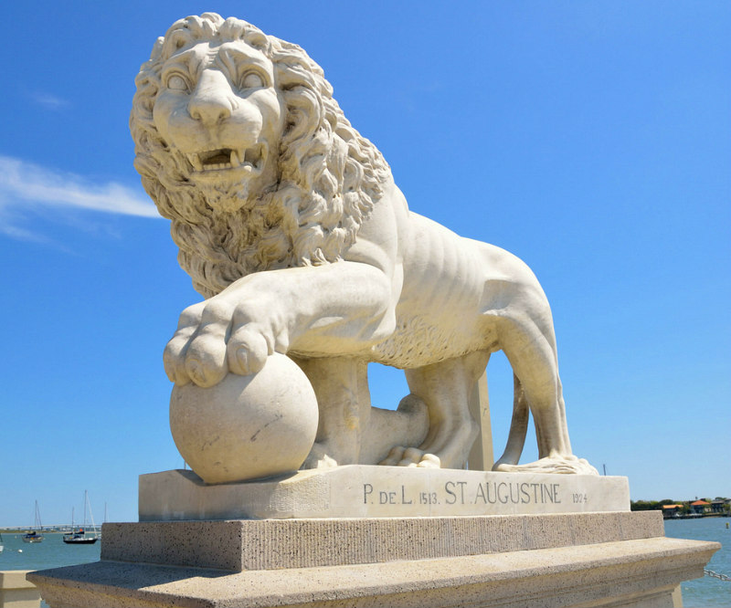 St Augustine Day Trip - Top 6 Things to Do - Bridge of Lions Statue