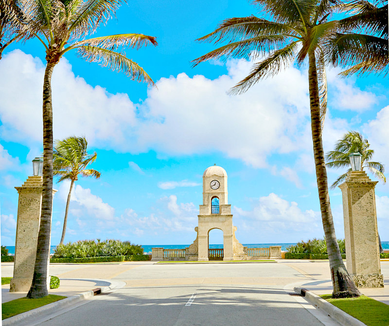 view of West Palm Beach Clock Tower - things to do in West Palm Beach -