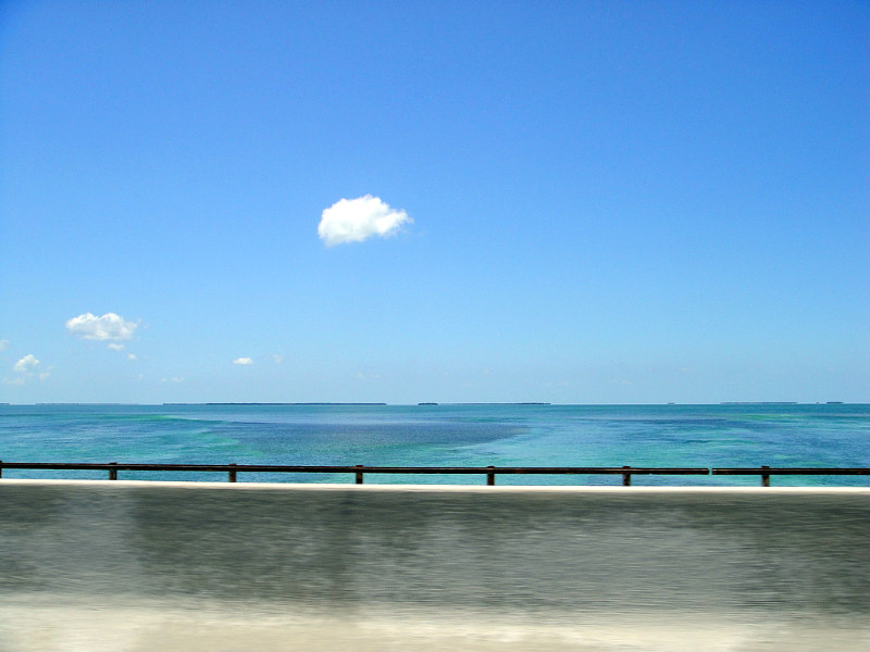 view from the Seven Mile Bridge Florida Keys