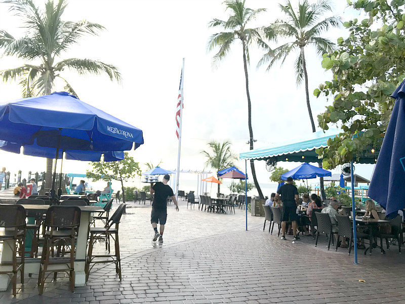 Family Travel Guide to Islamorada Florida Keys - Outdoor dining at Marker 88 Restaurant